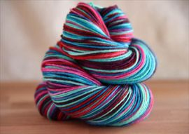 'Comfort and Joy'  Vesper Sock Yarn DYED TO ORDER
