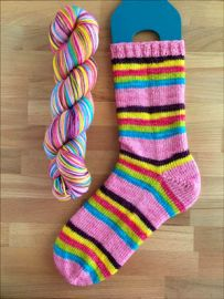 .'Cotton Candy Fairy Land' Vesper Sock Yarn DYED TO ORDER