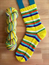 .'Eternal Sunshine' Vesper Sock Yarn DYED TO ORDER