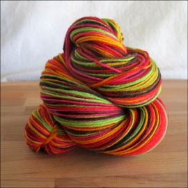 'Holiday Boogie Woogie' IN STOCK Vesper Sock Yarn WITH NYLON