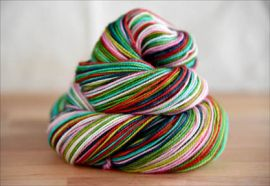 .'Joyful Noise'  Vesper Sock Yarn DYED TO ORDER