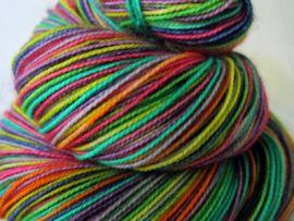 'Rainbow in the Dark' Vesper Sock Yarn DYED TO ORDER