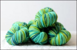 'Shamrockin' Vesper Sock Yarn DYED TO ORDER