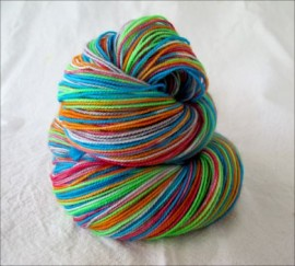 """Electric Revolution"" Vesper Sock Yarn DYED TO ORDER"