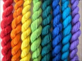 """""""Over The Rainbow""""  Mitten Yarn Kit"""