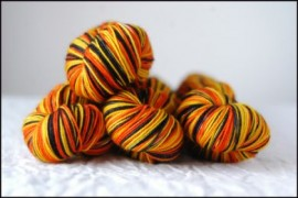 'Trick or Treat' Vesper Sock Yarn DYED TO ORDER
