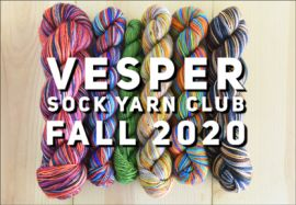 Vesper Sock Yarn Club October-November-December-2020