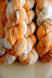 'Perfect Pumpkin' Bespeckled Vesper Sock Yarn