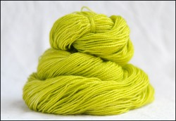 """Chartreuse"" Semi-Solid Vesper Sock Yarn DYED TO ORDER"