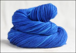 """Deep Blue"" Semi-Solid Vesper Sock Yarn DYED TO ORDER"