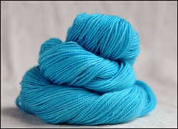 'Gin Bottle Blue'   Vesper Sock Yarn DYED TO ORDER