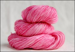 """Pink"" Semi-Solid Vesper Sock Yarn DYED TO ORDER"