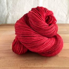 .'Wonder Woman Red' Semi-Solid Vesper Sock Yarn DYED TO ORDER