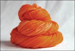 'Orange' Vesper Sock Yarn DYED TO ORDER