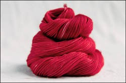 """Cherry Red"" Semi-Solid Vesper Sock Yarn DYED TO ORDER"