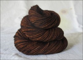 """Chocolate"" Semi-Solid Vesper Sock Yarn DYED TO ORDER"