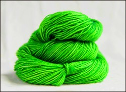 """Googlie Green"" Semi Solid Vesper Sock Yarn DYED TO ORDER"