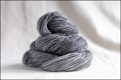 """Gray"" Semi-Solid Vesper Sock Yarn DYED TO ORDER"