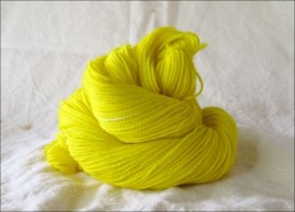 """Pure Yellow"" Semi-Solid Vesper Sock Yarn DYED TO ORDER"