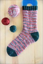 'Naughty and Nice' Bespeckled Varigated Vesper Sock Yarn