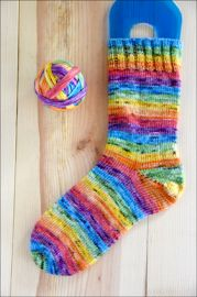 .'Misty Mountain Rainbow' Vesper Sock Yarn DYED TO ORDER