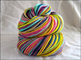 """Fresh Flowers""  Vesper Sock Yarn DYED TO ORDER"