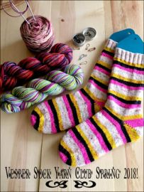 Vesper Sock Yarn Club April-May-June 2018