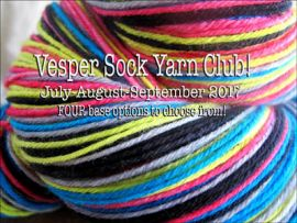 Vesper Sock Yarn Club July-August-September 2017