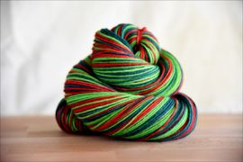 'The Holly & The Ivy'  Vesper Sock Yarn DYED TO ORDER