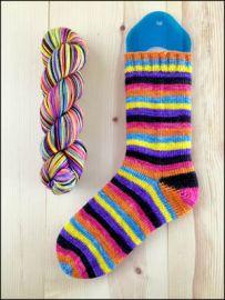 'Midnight Bonfire' Vesper Sock Yarn DYED TO ORDER