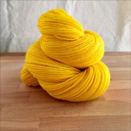 'Lasso of Truth Yellow' Semi-Solid Vesper Sock Yarn Dyed to Order