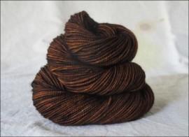"""Chocolate"" Semi-Solid Vesper Sock Yarn DYED TO ORDER"