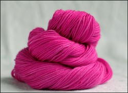 'Magenta' Semi-Solid Vesper Sock Yarn Dyed to Order