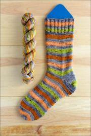 ..'Sleeping Pumpkin Patch' Vesper Sock Yarn DYED TO ORDER