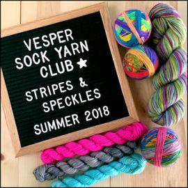 Vesper Sock Yarn Club July-August-September 2018