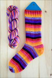 'Technicolor Lavaflow' Vesper Sock Yarn DYED TO ORDER